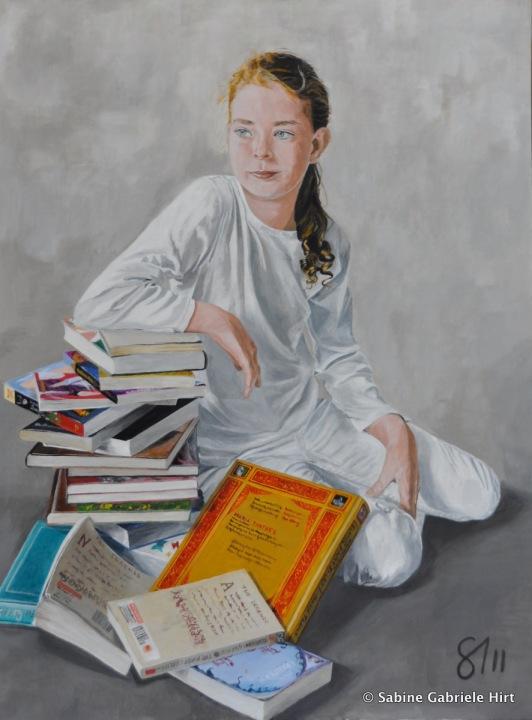 """NATASHA - A FULL DAYS WORK, 2011, Acrylic on Canvas, 40x30"""""""