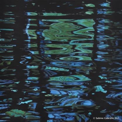 "BALINESE MIRROR WORLD, 2011 Acrylic on Canvas, 40x40"""