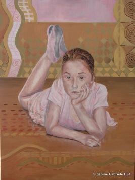 "BELLA, 2009 Acrylic on Canvas, 40x30"""