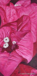 BOUGAINVILLEA, 2005 Arcylic on Canvas, 36x18""