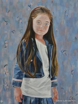 "BLUE EYES, 2010, Acrylic on Canvas, 40 x 30"""