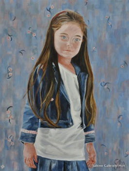 BLUE EYES, 2010, Acrylic on Canvas, 40 x 30""