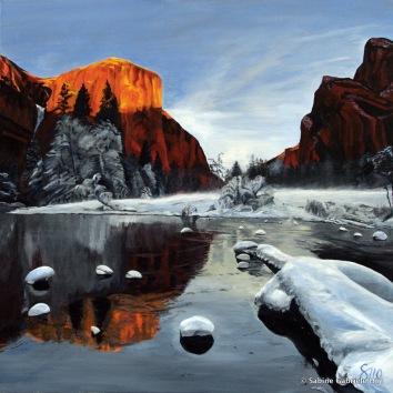 "EL CAPITAN, 2010 Acrylic on canvas, 40 x 40"""