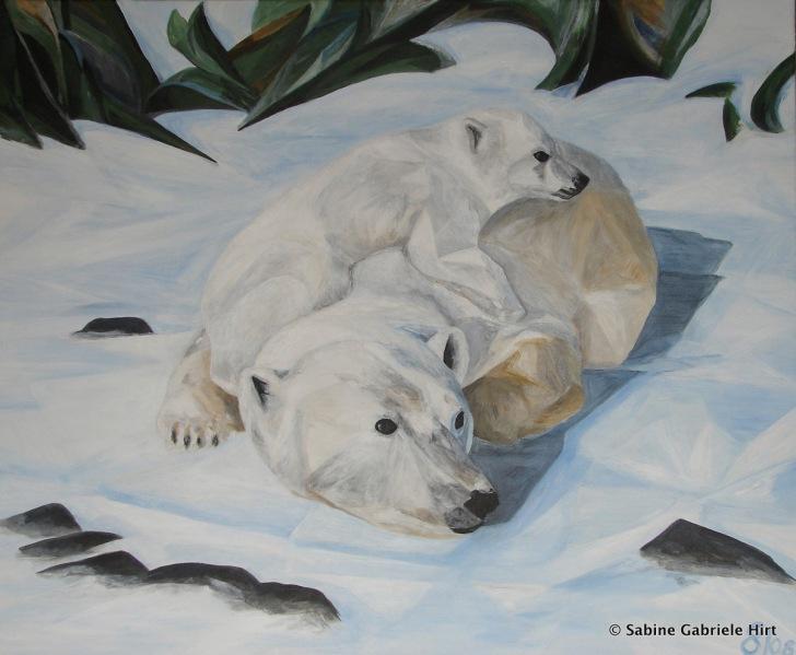 "GREEN FUTURE?, 2008 Acrylic on Canvas, 30x36"""