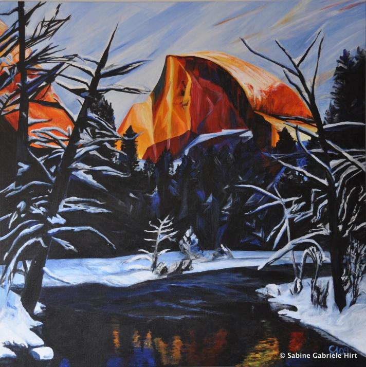 """HALF DOME, 2009 Acrylic on Canvas, 40x40"""""""