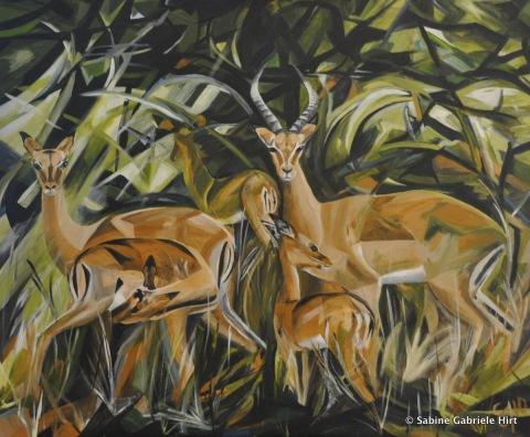 "IN THE BUSH, 2010 Acrylic on Canvas, 30x36"""
