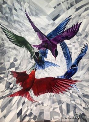 "INTRUDER, 2014 Acrylic on Canvas, 47.25x35.43"""