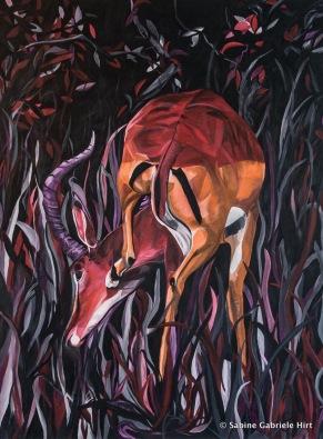 """KRATZ KRATZ, 2014, Acrylic on Canvas, 47.25x35.43"""""""