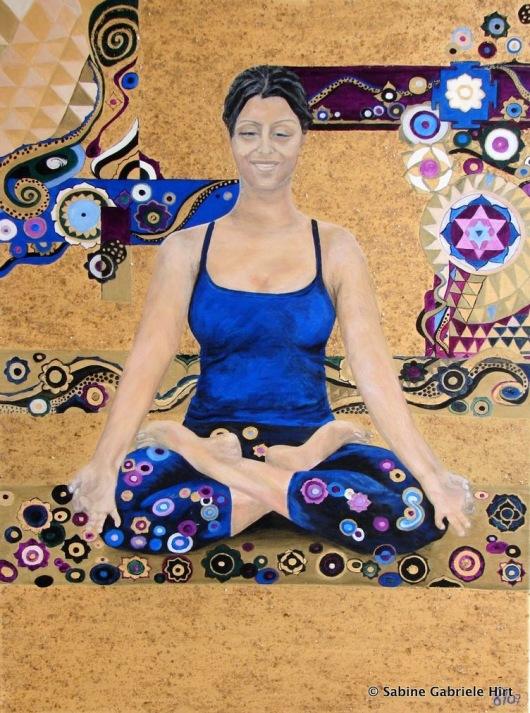 "LOTUS, 2007, Acrylic on canvas, 40x30"""