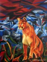 "TOO CLOSE?!, 2008, Acrylic on Canvas, 40x30"""